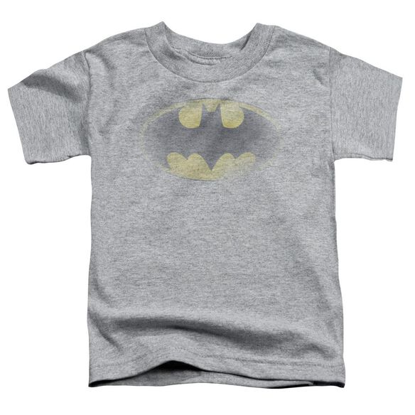 Batman Faded Logo Short Sleeve Toddler Tee Athletic Heather Sm T-Shirt