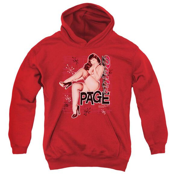 Bettie Page Retro Hot Youth Pull Over Hoodie