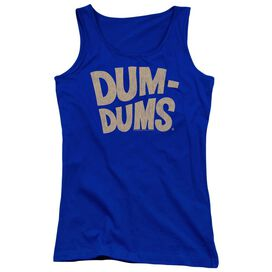 Dum Dums Distressed Logo Juniors Tank Top Royal