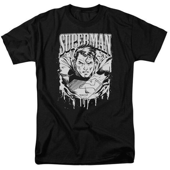 SUPERMAN SUPER METAL - S/S ADULT 18/1 - BLACK T-Shirt