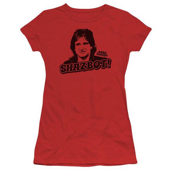 Mork & Mindy Shazbot Short Sleeve Junior Sheer T-Shirt