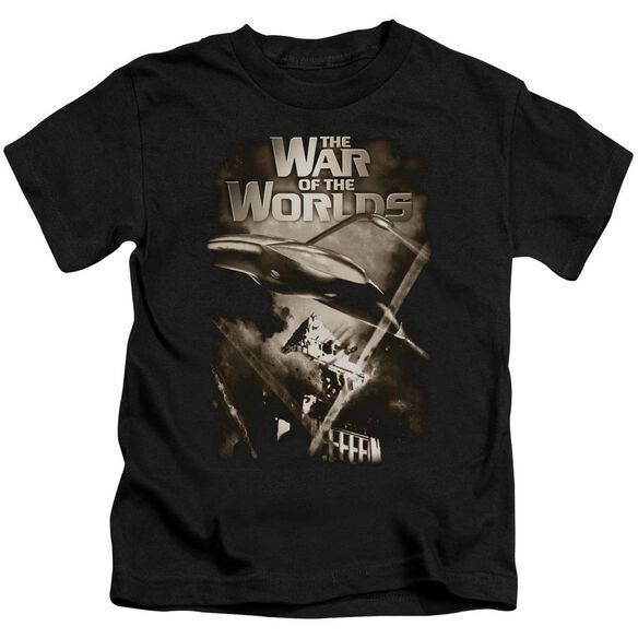 War Of The Worlds Death Rays Short Sleeve Juvenile Black Md T-Shirt