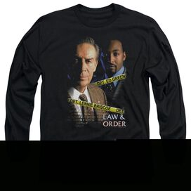 LAW AND ORDER BRISCOE AND GREEN - L/S ADULT 18/1 - BLACK T-Shirt
