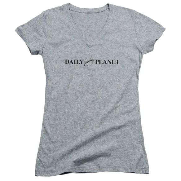 Superman Daily Planet Logo Junior V Neck Athletic T-Shirt