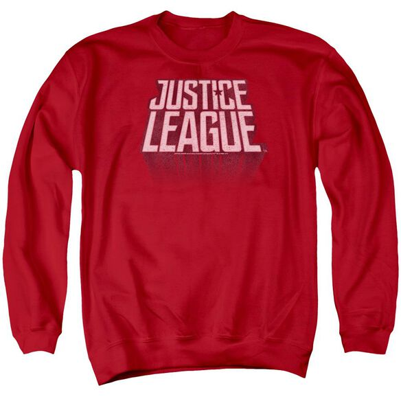 Justice League Movie League Distressed Adult Crewneck Sweatshirt