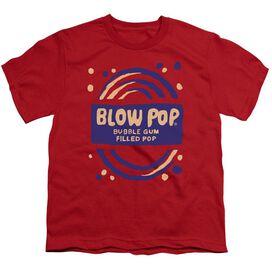 Tootsie Roll Blow Pop Rough Short Sleeve Youth T-Shirt