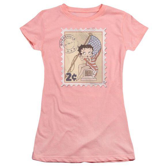 Betty Boop Vintage Stamp Premium Bella Junior Sheer Jersey