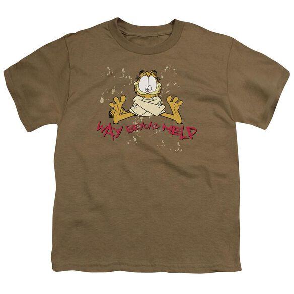 GARFIELD WAY BEYOND HELP - S/S YOUTH 18/1 - SAFARI GREEN T-Shirt