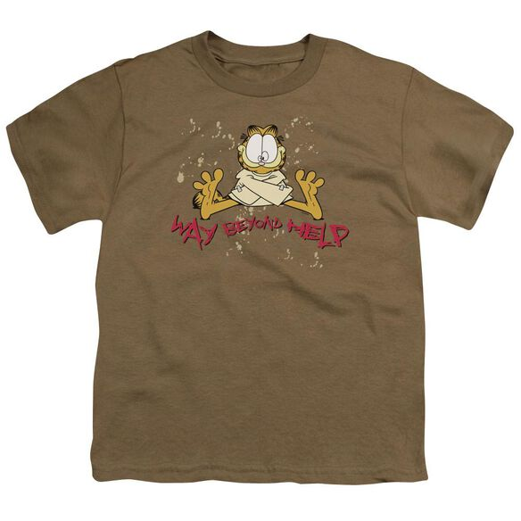 Garfield Way Beyond Help Short Sleeve Youth Safari T-Shirt
