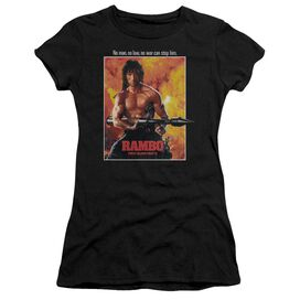 Rambo: First Blood Ii Poster Short Sleeve Junior Sheer T-Shirt