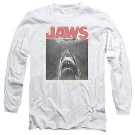 Jaws Classic Fear Long Sleeve Adult T-Shirt