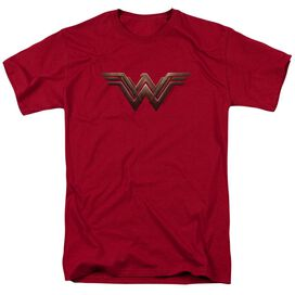 Wonder Woman Movie Wonder Woman Logo Short Sleeve Adult Cardinal T-Shirt