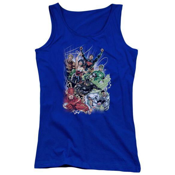 Jla Justice League #1 Juniors Tank Top Royal
