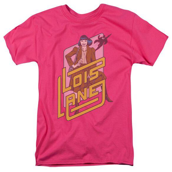 Dc Lois Lane Short Sleeve Adult Hot Pink T-Shirt