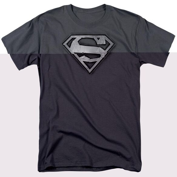 SUPERMAN DUCT TAPE SHIELD - S/S ADULT 18/1 - CHARCOAL T-Shirt