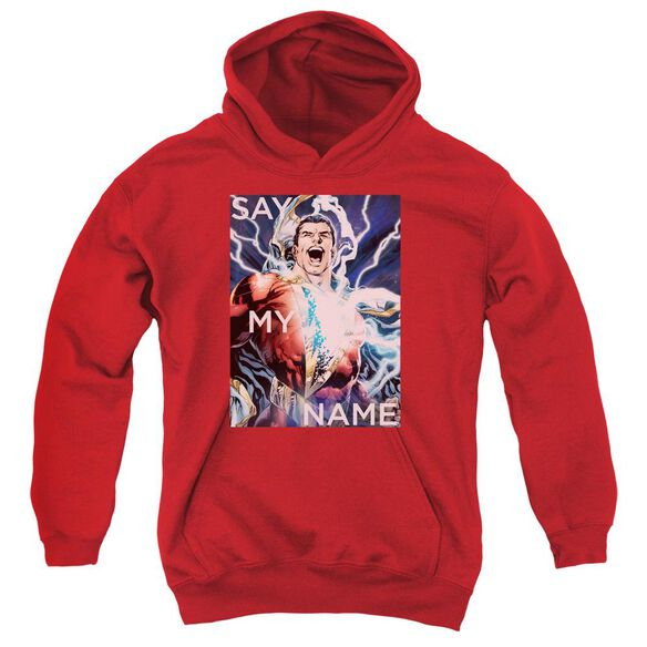 Jla Say My Name Youth Pull Over Hoodie