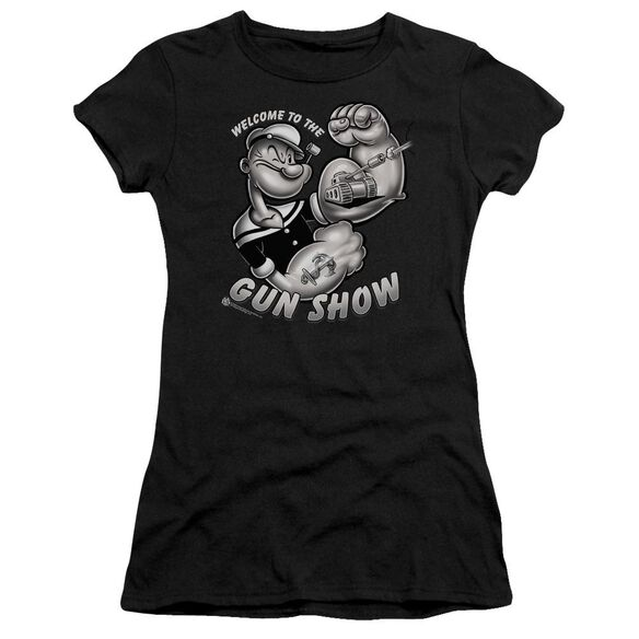 Popeye Gun Show Short Sleeve Junior Sheer T-Shirt