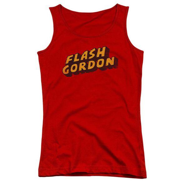 Flash Gordon Logo Juniors Tank Top