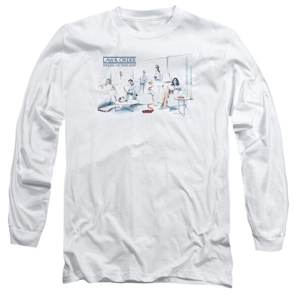 Law And Order Svu Dominos Long Sleeve Adult T-Shirt