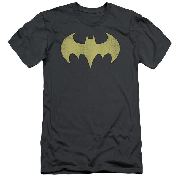 Dc Batgirl Logo Distressed Short Sleeve Adult T-Shirt