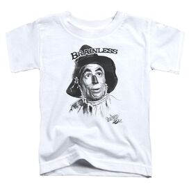Wizard Of Oz Brainless Short Sleeve Toddler Tee White T-Shirt