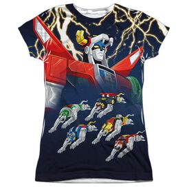 Voltron Boltron Short Sleeve Junior Poly Crew T-Shirt