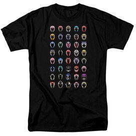 Power Rangers Visual Timeline Short Sleeve Adult T-Shirt