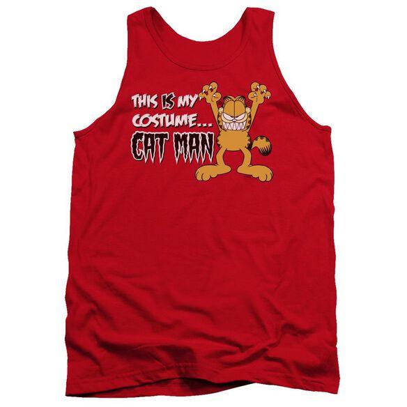 Garfield Cat Man - Adult Tank - Red