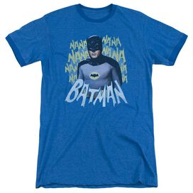 Batman Classic Tv Theme Song Adult Heather Ringer Royal Blue