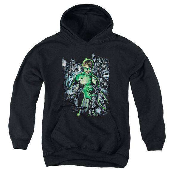 Green Lantern Surrounded By Death Youth Pull Over Hoodie