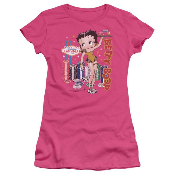 Betty Boop Wet Your Whistle Short Sleeve Junior Sheer T-Shirt