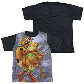 Scooby Doo Scooby And Shaggy Short Sleeve Youth Front Black Back T-Shirt