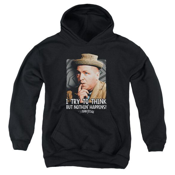 Three Stooges Try To Think Youth Pull Over Hoodie