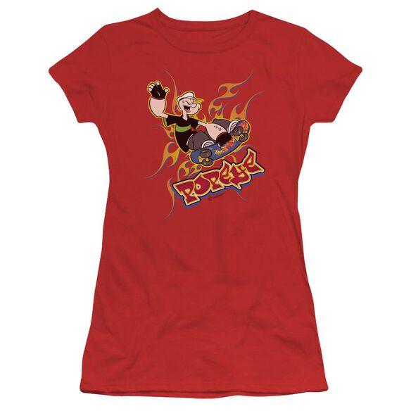POPEYE GET AIR - S/S JUNIOR SHEER T-Shirt