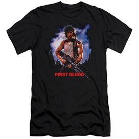 Rambo:First Blood Poster Short Sleeve Adult T-Shirt