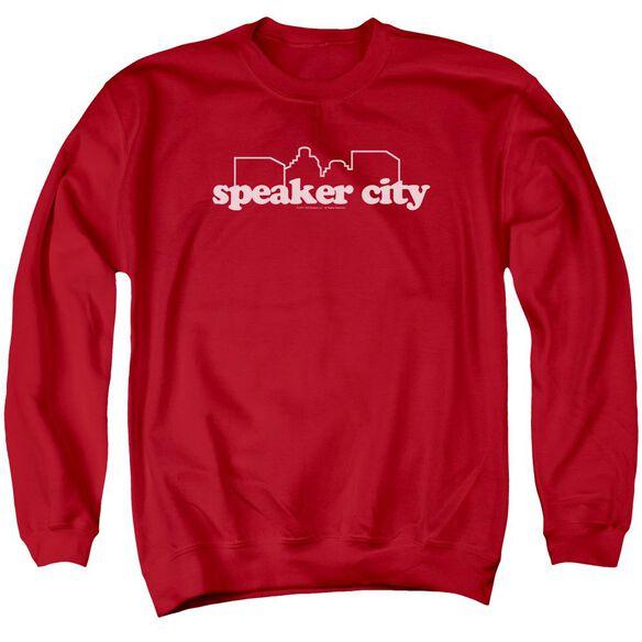 Old School Speaker City Logo Adult Crewneck Sweatshirt