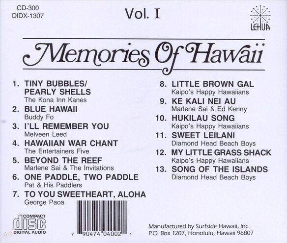 Vol. 1 Memories Of Hawaii