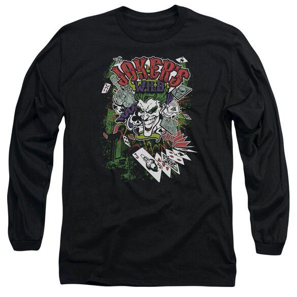 BATMAN JOKERS WILD - L/S ADULT 18/1 - BLACK T-Shirt