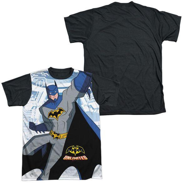 Batman Unlimited Tech Cave Short Sleeve Adult Front Black Back T-Shirt