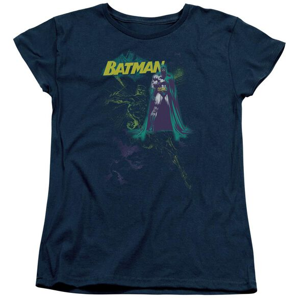 Batman Bat Spray Short Sleeve Womens Tee T-Shirt