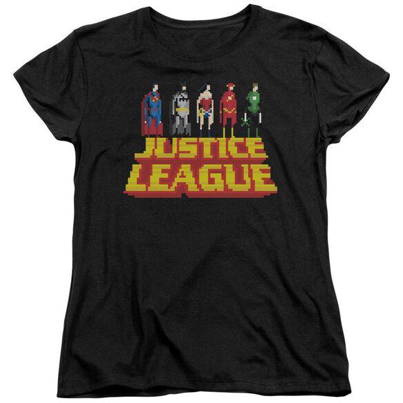Jla Standing Above Short Sleeve Womens Tee T-Shirt