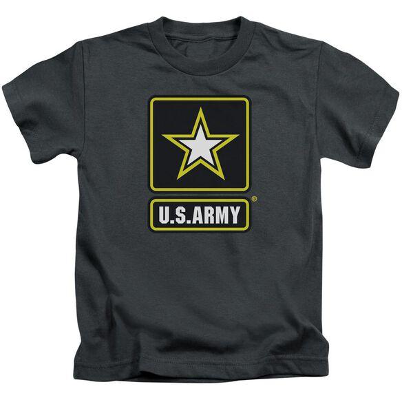 Army Logo Short Sleeve Juvenile Charcoal T-Shirt