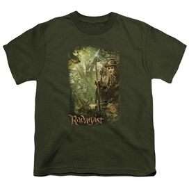 The Hobbit In The Woods Short Sleeve Youth Military T-Shirt