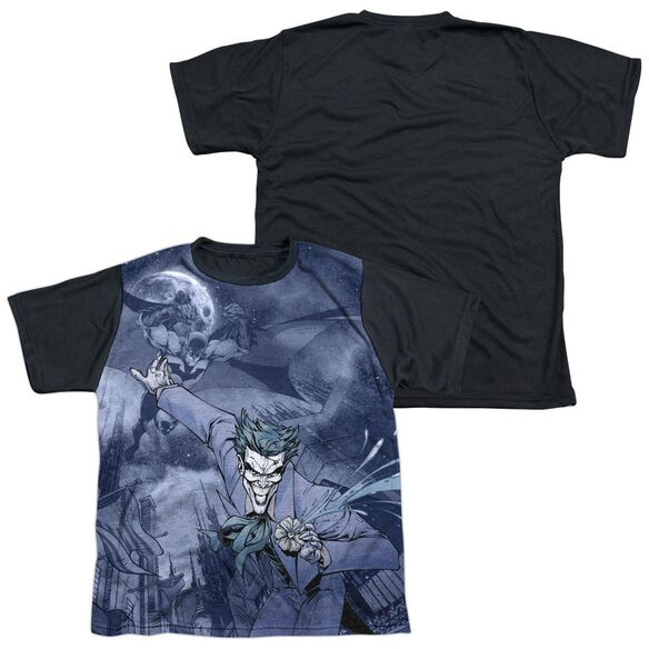 Batman Catch The Joker Short Sleeve Youth Front Black Back T-Shirt