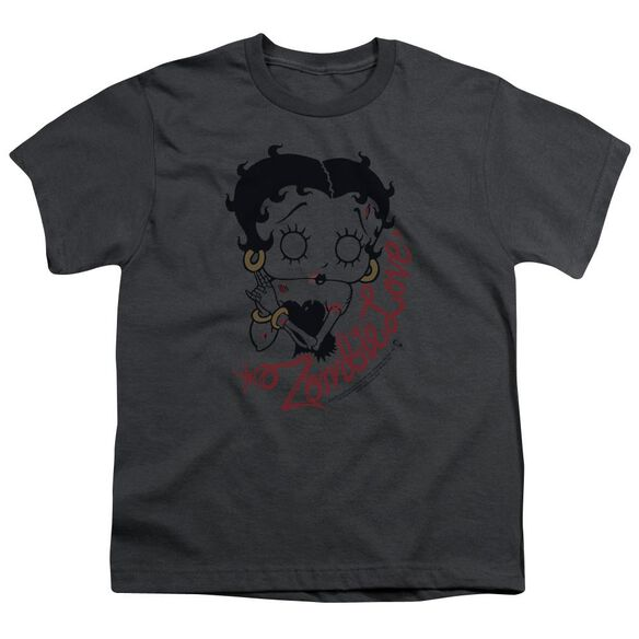 Betty Boop Classic Zombie Short Sleeve Youth T-Shirt
