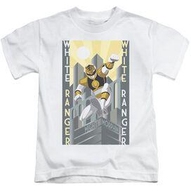 Power Rangers White Ranger Deco Short Sleeve Juvenile White T-Shirt