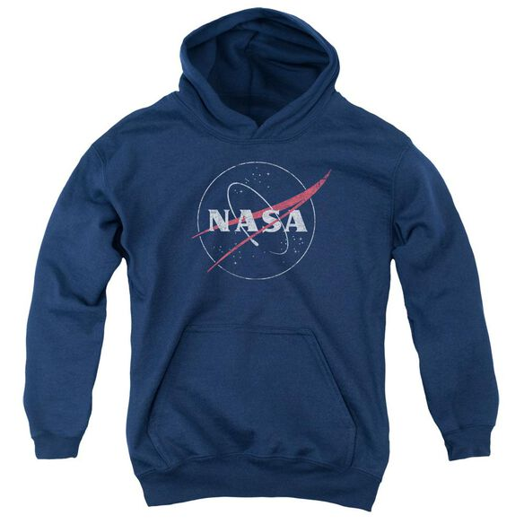 Nasa Distressed Logo Youth Pull Over Hoodie