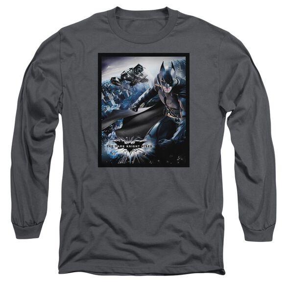 Dark Knight Rises Batwing Rises Long Sleeve Adult T-Shirt