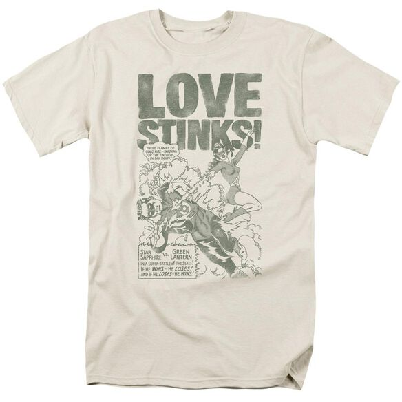 Green Lantern Love Stinks Short Sleeve Adult Cream T-Shirt