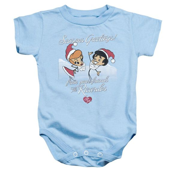 I Love Lucy Animated Christmas Infant Snapsuit Light Blue